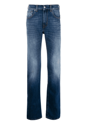 7 For All Mankind faded detail straight-leg jeans - Blue