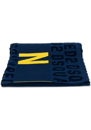 Dsquared2 Icon beach towel - Blue