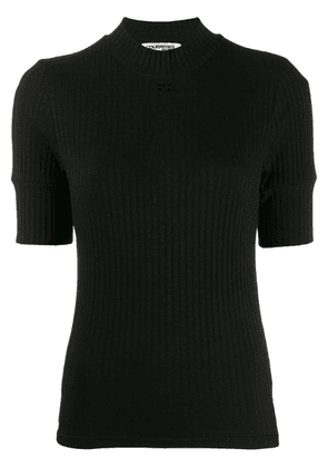 Courrèges ribbed T-shirt - Black
