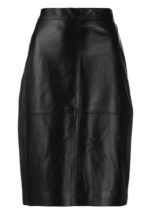 Federica Tosi high-waisted fitted skirt - Black