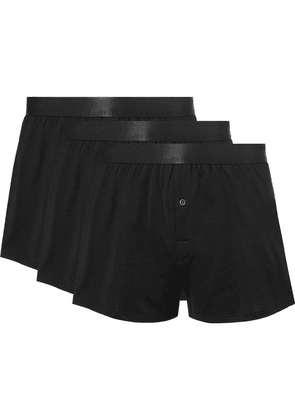 CDLP - Three-pack Cotton-jersey Boxer Shorts - Black