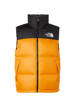 The North Face - 1996 Nuptse Colour-block Quilted Shell Down Gilet - Orange
