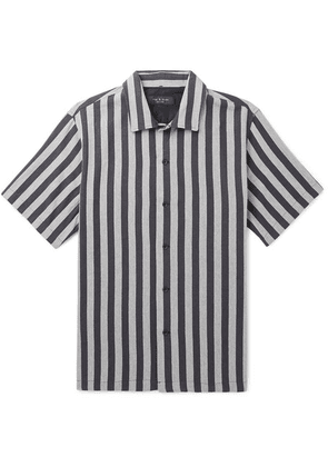rag & bone - Avery Striped Camp-collar Cotton Shirt - Gray