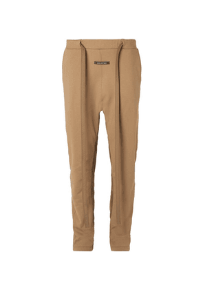 Fear of God - Tapered Nylon-trimmed Loopback Cotton-jersey Sweatpants - Tan