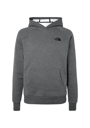 The North Face - Fleece-back Cotton-blend Jersey Hoodie - Gray
