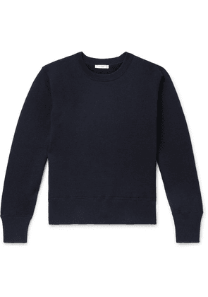 The Row - Nicolas Cotton And Cashmere-blend Sweater - Navy