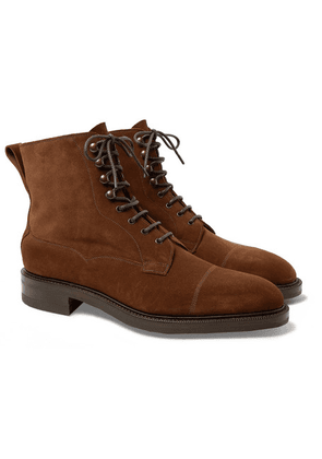 Edward Green - Galway Cap-toe Suede Boots - Brown