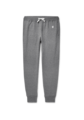 Todd Snyder + Champion - Tapered Mélange Loopback Cotton-jersey Sweatpants - Gray