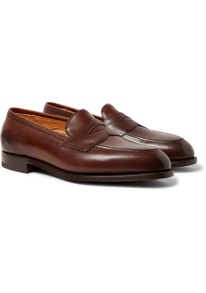 Edward Green - Piccadilly Leather Penny Loafers - Brown