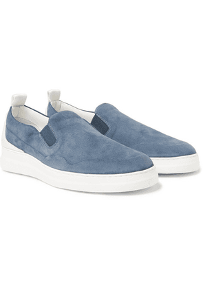 Dunhill - Radial Spoiler Suede Slip-on Sneakers - Light blue