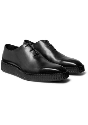 Berluti - Alessandro Exaggerated-sole Leather Oxford Shoes - Black