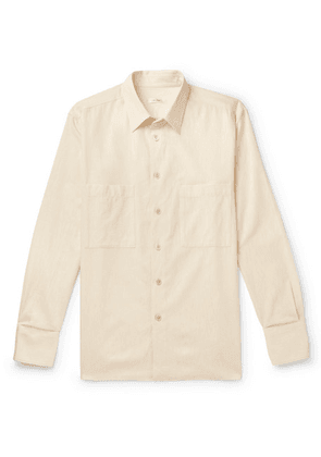 The Row - Gerald Cotton And Wool-blend Shirt - Cream