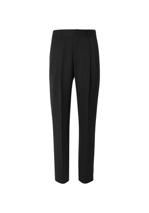The Row - Black Eric Pleated Virgin Wool Trousers - Black