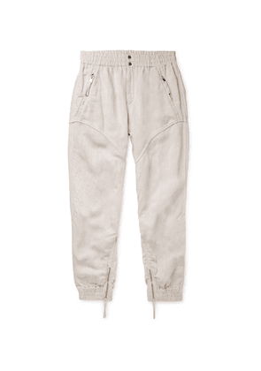Isabel Marant - Oarris Tapered Tencel And Linen-blend Trousers - Ecru
