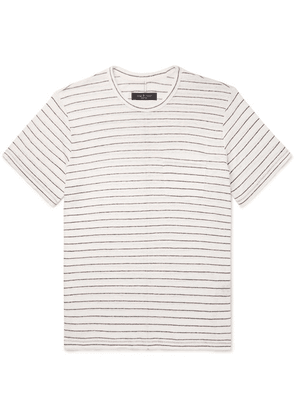 rag & bone - Striped Slub Linen-jersey T-shirt - Beige