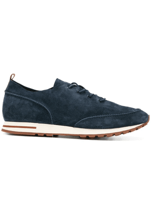 Loro Piana lace up classic trainers - Blue