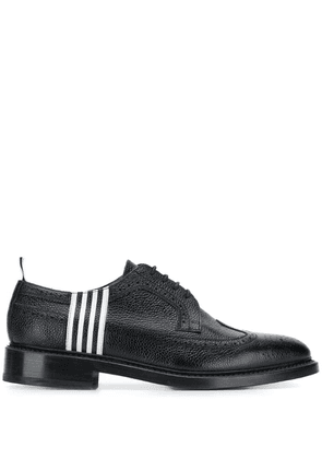 Thom Browne Contrast 4-bar Emboss Longwing Brogue - Black