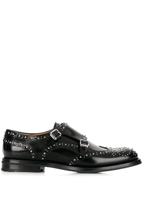 Church's studded buckled monk shoes - Black