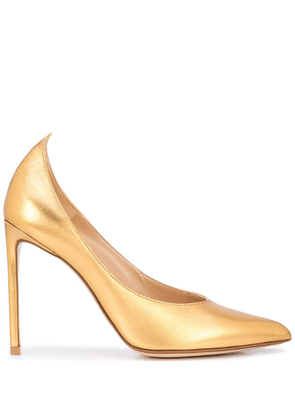 Francesco Russo slip-on pumps - Gold