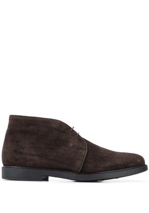 Fratelli Rossetti piped leather trim boots - Brown