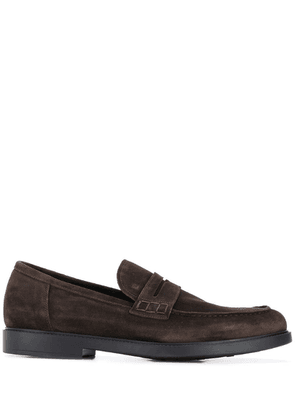 Fratelli Rossetti stitching detail loafers - Brown