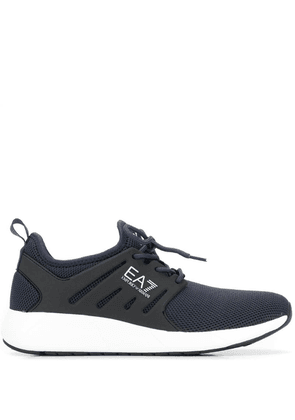 Ea7 Emporio Armani panelled lace-up sneakers - Blue