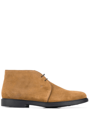 Fratelli Rossetti piped leather trim boots - Neutrals