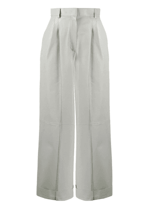 Fendi cropped panelled trousers - Grey