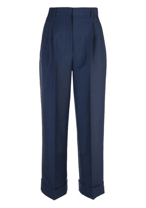 Fendi pleated wool trousers - Blue