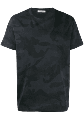 Valentino a camouflage print T-shirt - Black