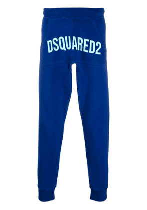 Dsquared2 logo print track pants - Blue