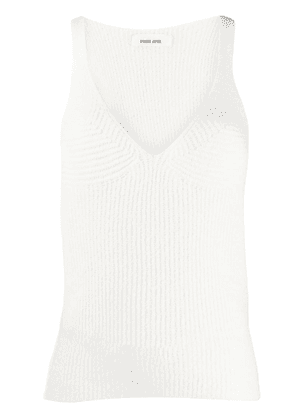 Circus Hotel ribbed knit tank top - White