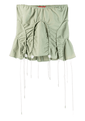 Eckhaus Latta strapless ruched top - Green