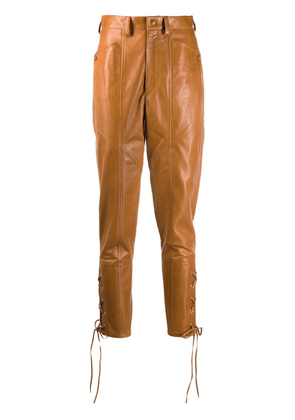Isabel Marant Cadix leather trousers - Brown