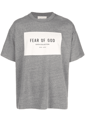 Fear Of God logo print T-shirt - Grey