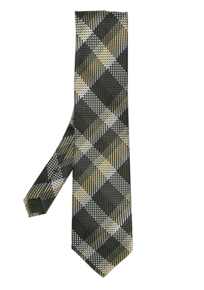 Tom Ford check patterned tie - Green