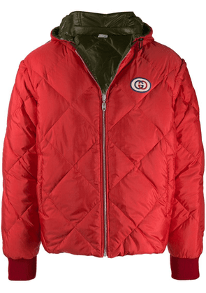 Gucci reversible down jacket - Red
