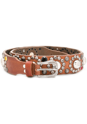 Golden Goose studded belt - Brown