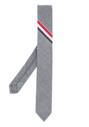 Thom Browne stripe detail tie - Grey