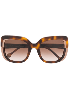 Ch Carolina Herrera oversized sunglasses - Brown