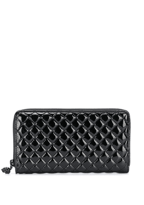 Alexander McQueen varnished quilted continental wallet - Black