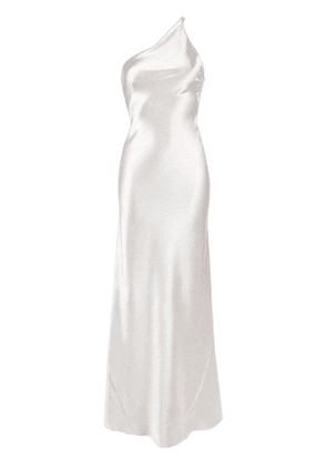 Galvan Roxy long evening dress - Silver