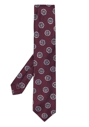 Brioni floral embroidered tie