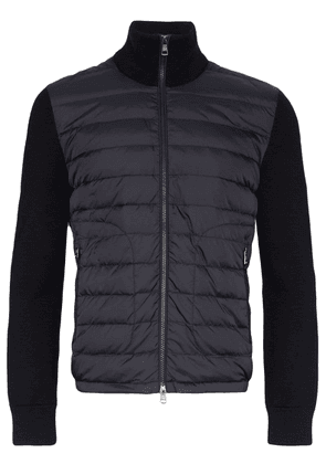 Moncler knitted-sleeve padded jacket - Blue