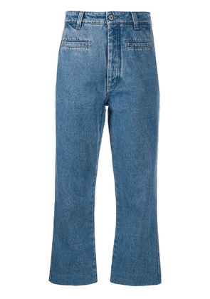Loewe cropped straight jeans - Blue