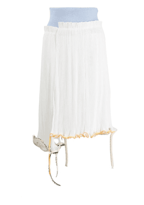 Loewe deconstructed pleated midi skirt - White