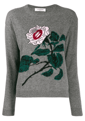 Valentino embroidered knitted sweater - Grey