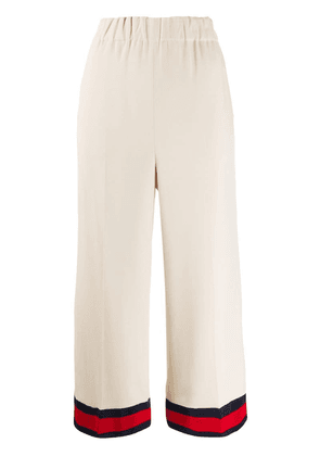 Gucci Web stripe culotte trousers - Neutrals
