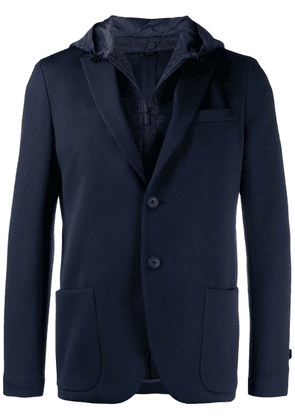 Fendi hooded jersey blazer - Blue