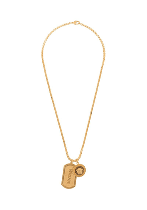 Versace Medusa and logo charm necklace - Gold